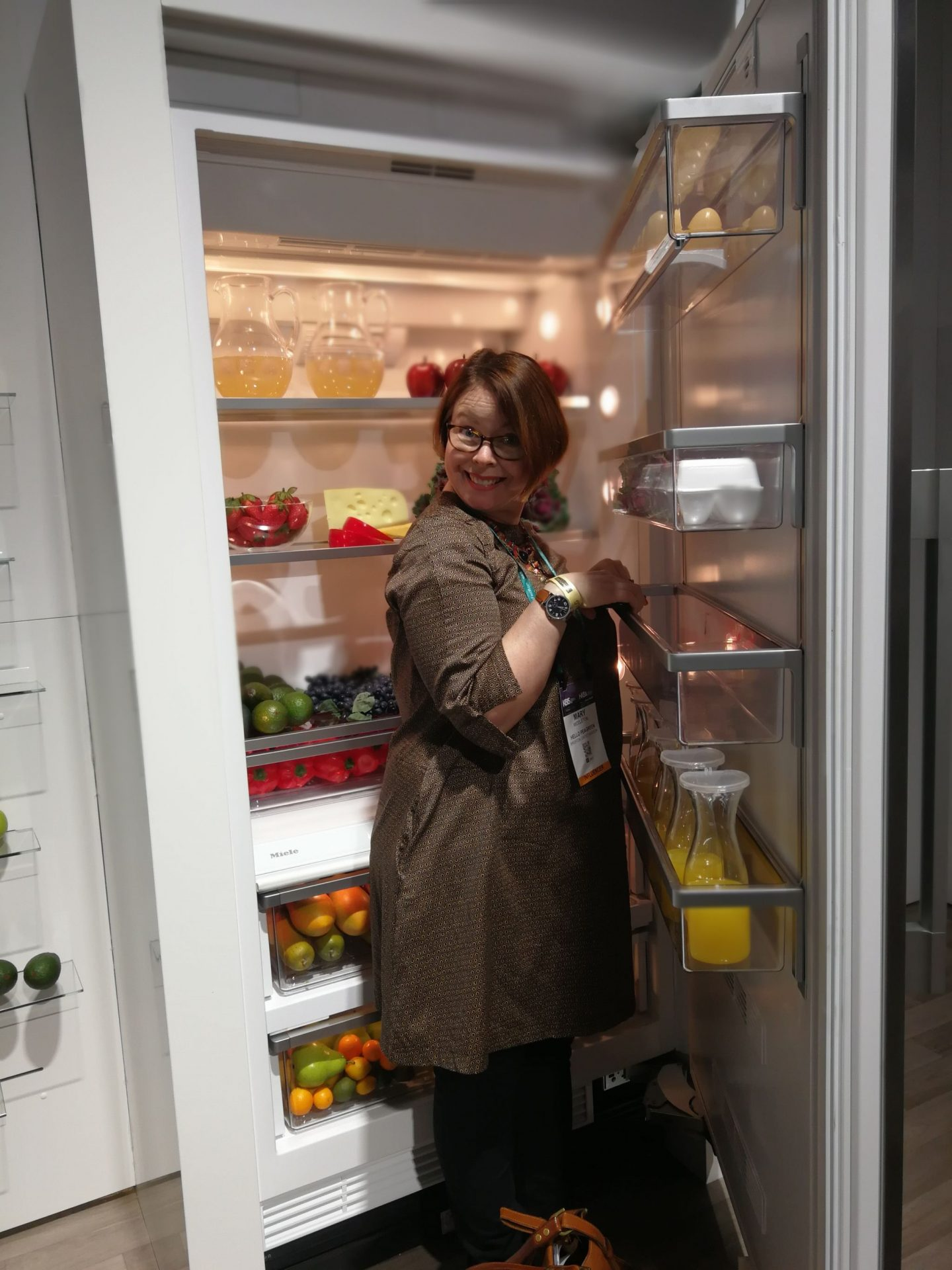 hello peagreen, KBIS, blogtour KBIS, Kitchen and bathroom design, miele, big fridge