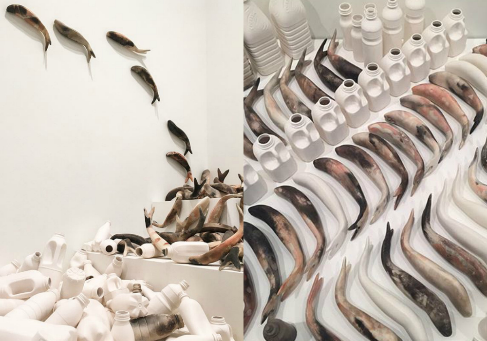 Collect 2018, Contemporary Craft, interiors blog, hellopeagreen, Mella Shaw, Smoke fired ceramics, ceramicist