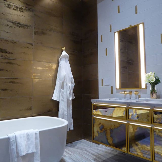 hellopeagreen, Ann Sacks, KBIS, blogtour KBIS, Kitchen and bathroom design, bathroom trend, luxury bathroom, brass, metal finishes