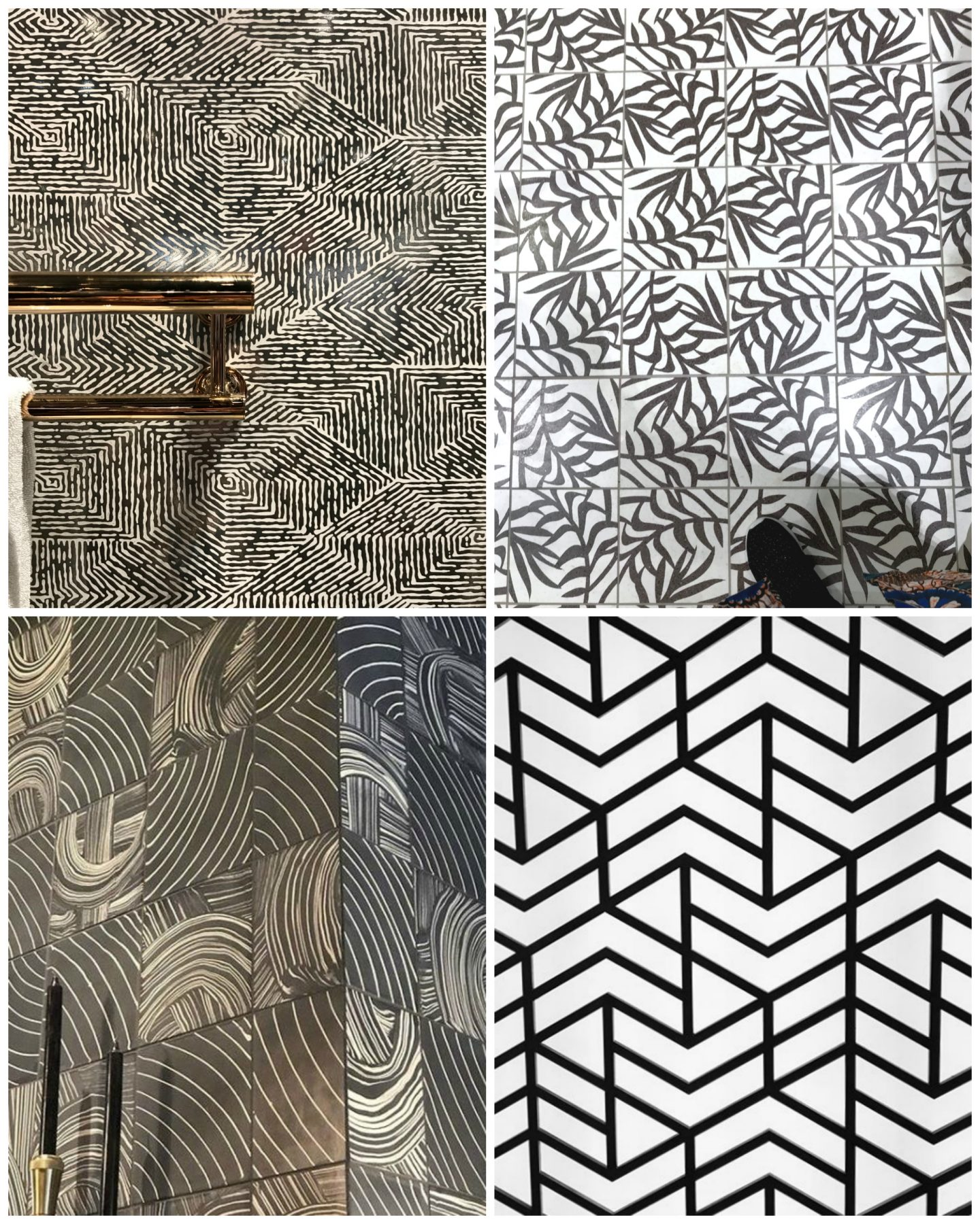 hellopeagreen, KBIS, blogtour KBIS, Kitchen and bathroom design, bathroom trend, luxury bathroom, tiles, black & white tiles, monochrome