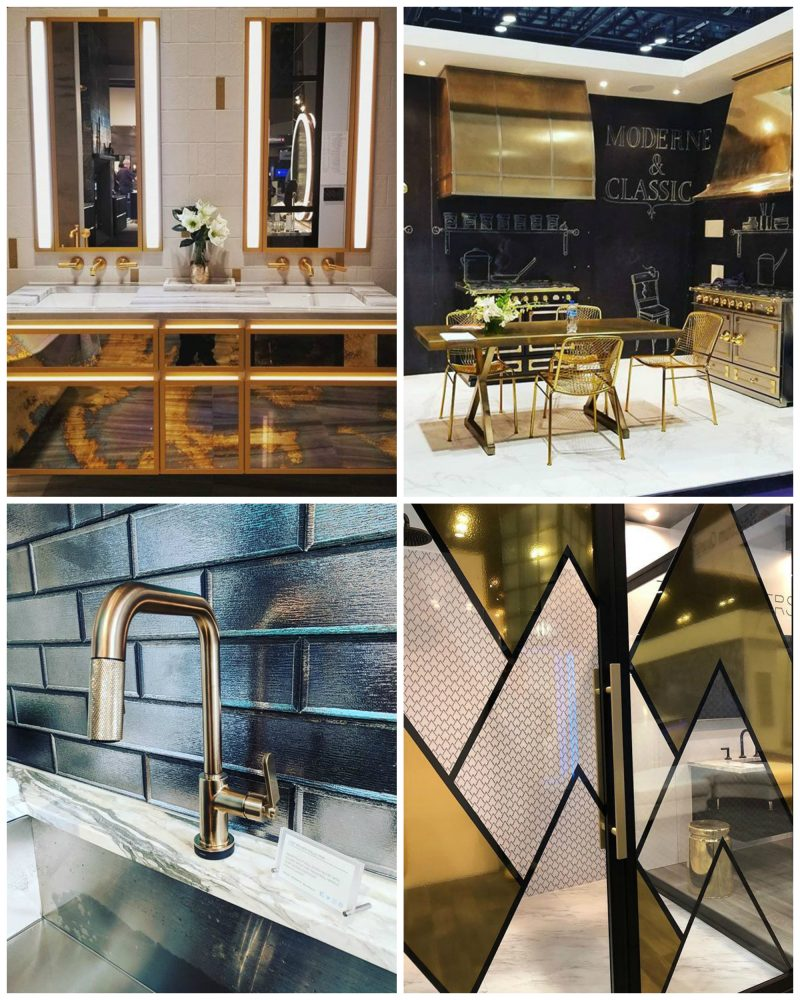hellopeagreen, KBIS, blogtour KBIS, Kitchen and bathroom design, bathroom trend, luxury bathroom, brass, metal finishes