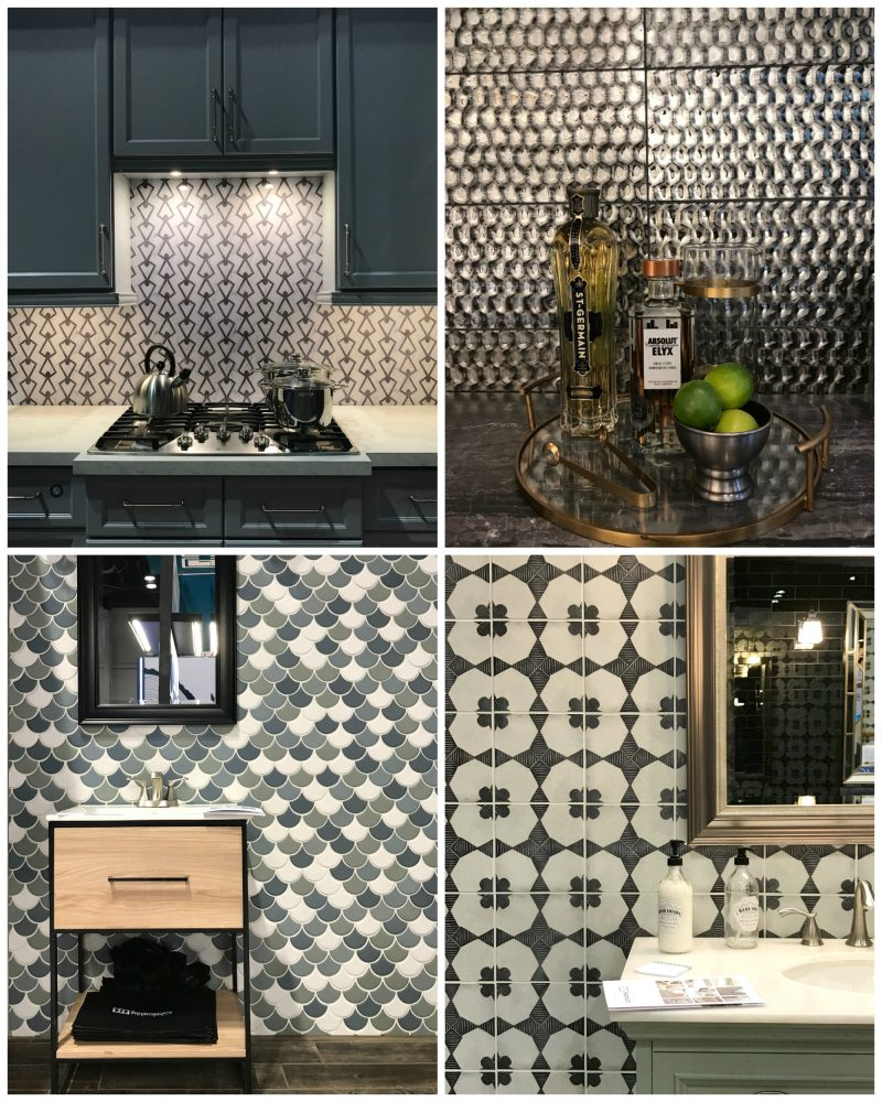 hellopeagreen, KBIS, blogtour KBIS, Kitchen and bathroom design, bathroom trend, luxury bathroom, tiles, statement backsplash