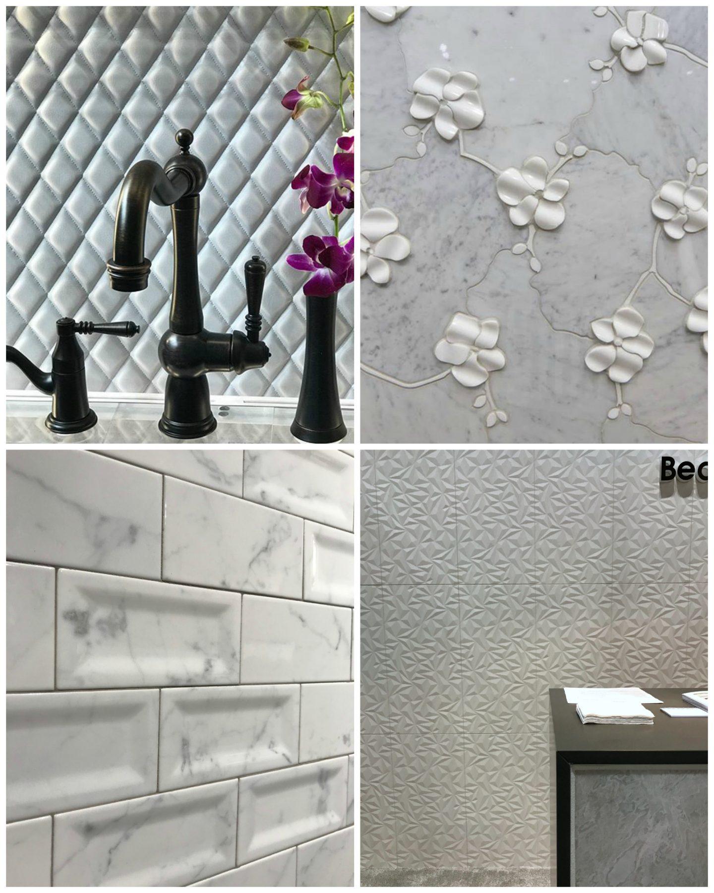 hellopeagreen, KBIS, blogtour KBIS, Kitchen and bathroom design, bathroom trend, luxury bathroom, tiles, 3D tiles