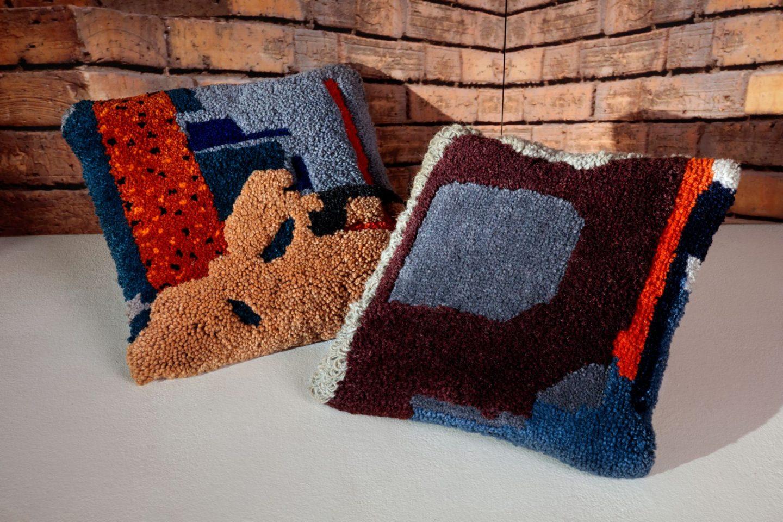 Maison & Objet, MO18, Tom Dixon, Abstract Cushions, hellopeagreen,josephine ortega textile artist