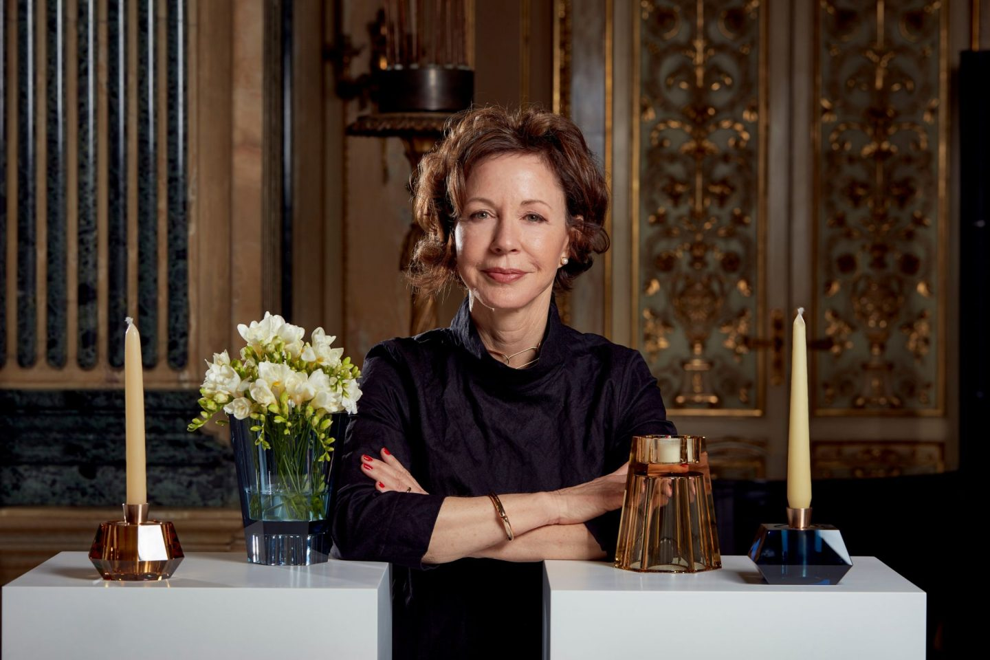 Interior design, design travel, Barbara Barry, Swarovski, hellopeagreen, Milan with Barbara Barry, crystal home accessories