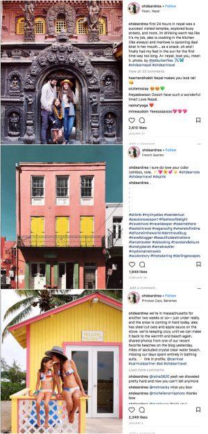 Instagrammer Andrea Duclos, instagram inspiration for April, Wanderlusting the world