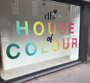 DFS House of Colour Event, hello peagreen, colour hunting, choosing colour for a sofa, interior blogger