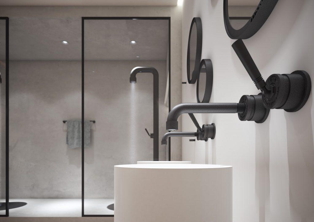 Industrial style Black bath taps, Black bath taps, bathroom trend, black faucet, industrial style, bathroom design, hello peagreen, interior blogger, Soho Series,Jee-O