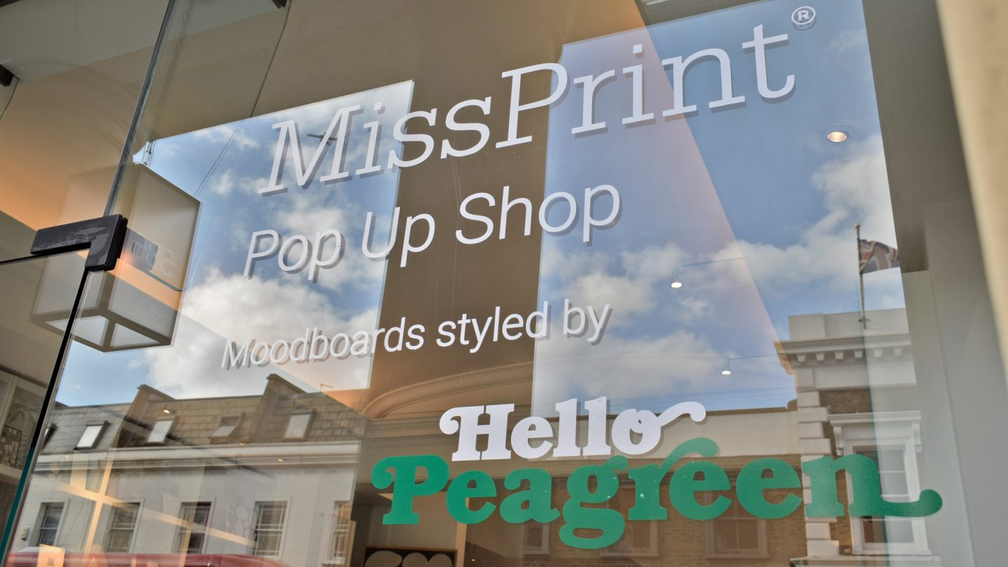 Miss Print Pop Up Shop at Reed Harris, hellopeagreen, tiles