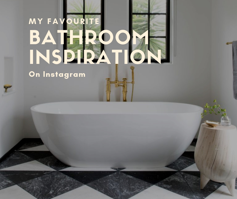 my favourite bathroom inspiration on Instagram, hellopeagreen, interiors, instagram
