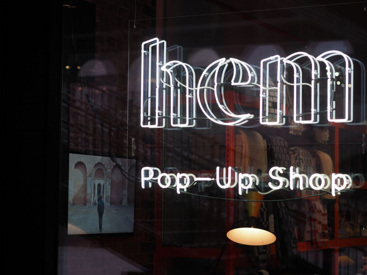 Coal Drops Yard, Hem pop up shop, neon, Mary Middleton for Hello Peagreen