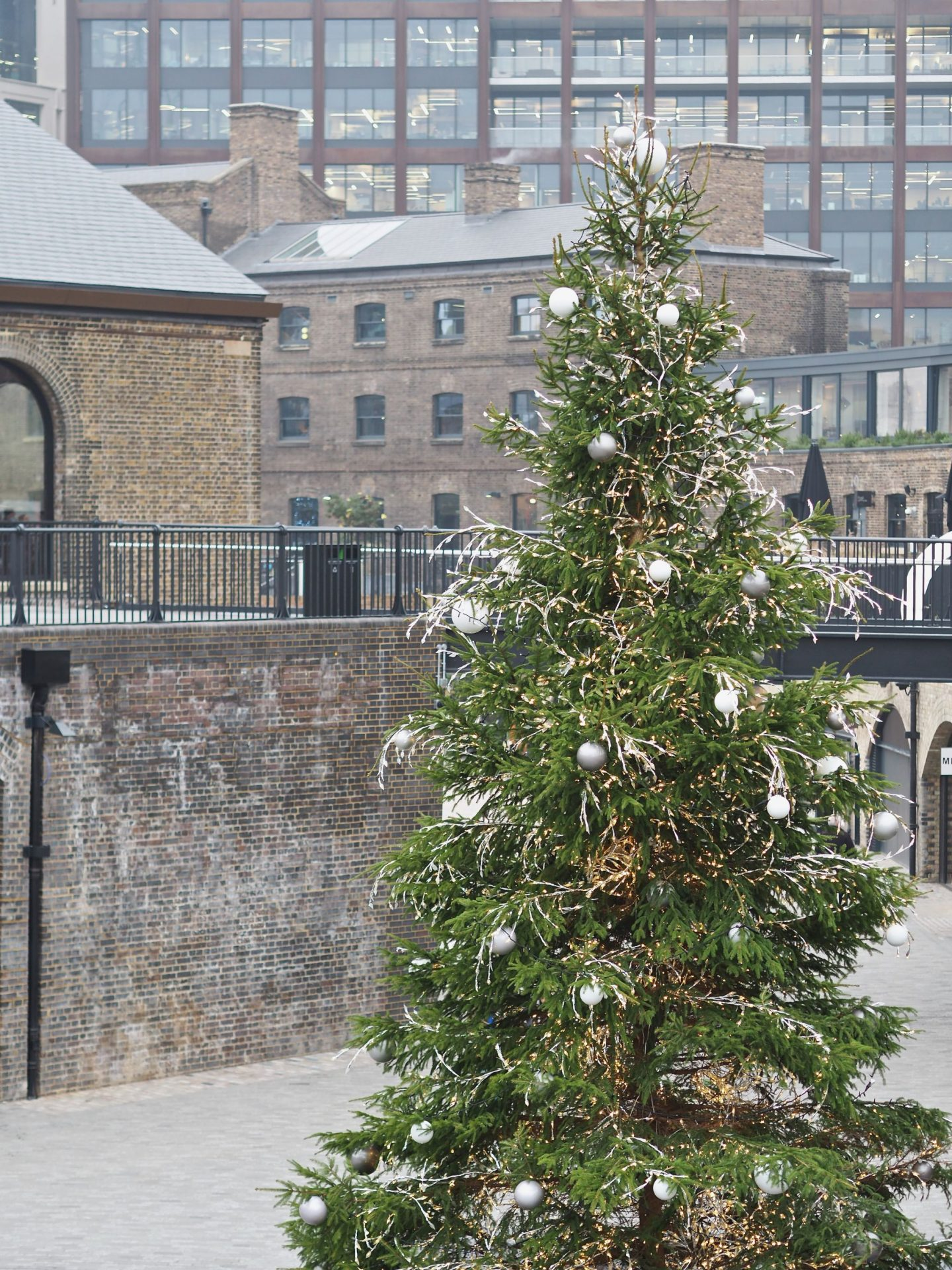 Coal Drops Yard, Christmas tree, Mary Middleton for Hello Peagreen
