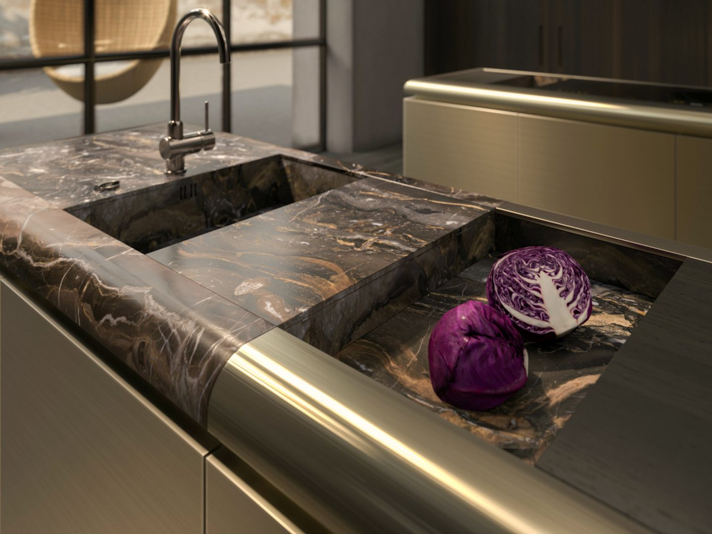 Choosing the right stone, Rossana, Kitchen design, dark brown marble