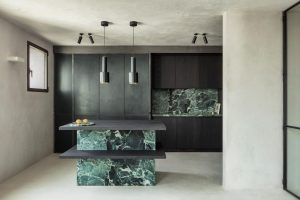 Arjaan De Feyter, green marble via Hello Peagreen, interiors blog