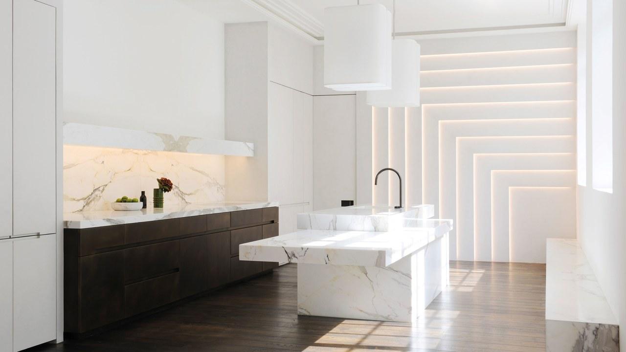 Designed by Joseph Dirand, Calacatta Paonazzo marble, Choosing the right stone