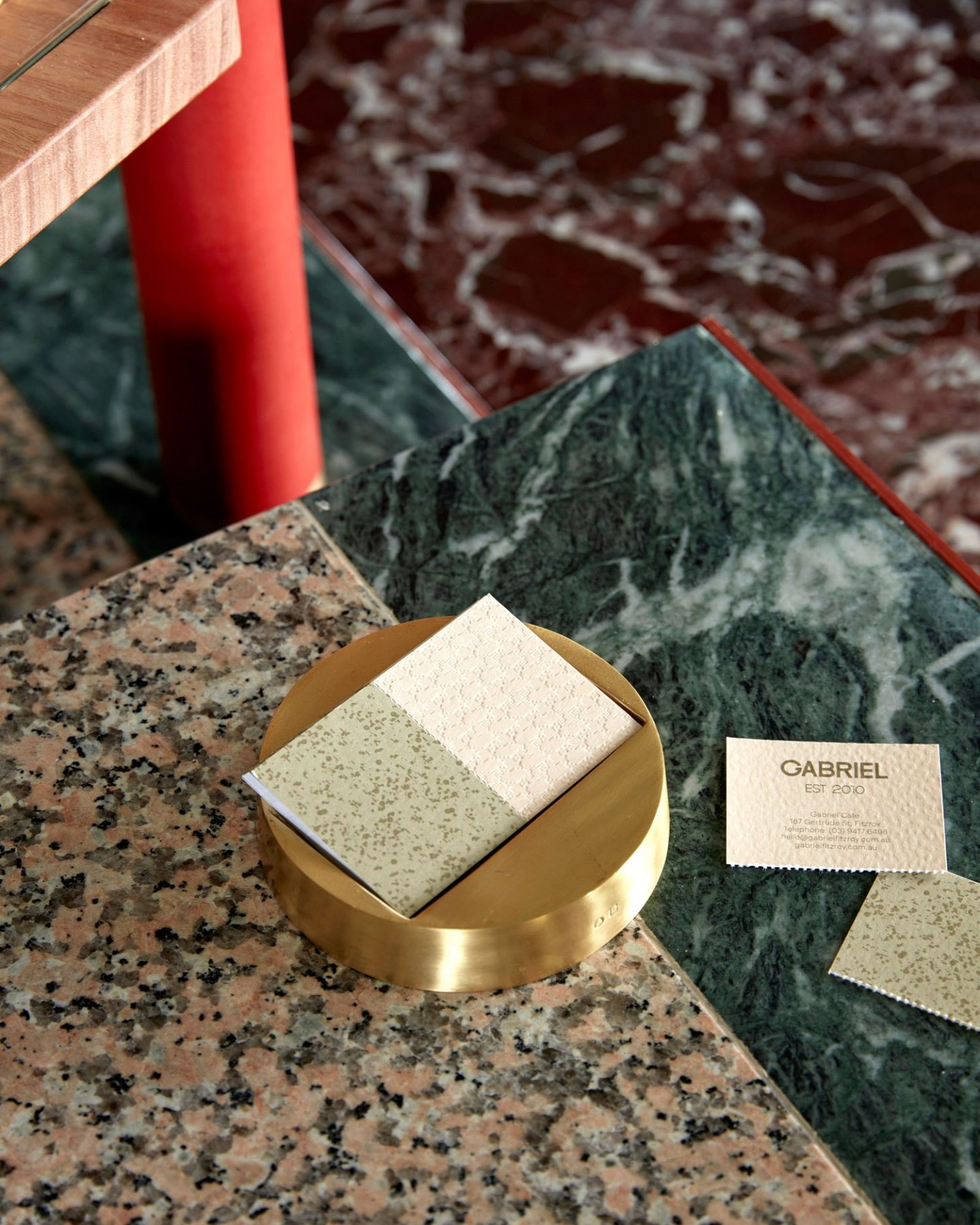 Choosing the right stone, Flack Studio, verde marble, rosso marble