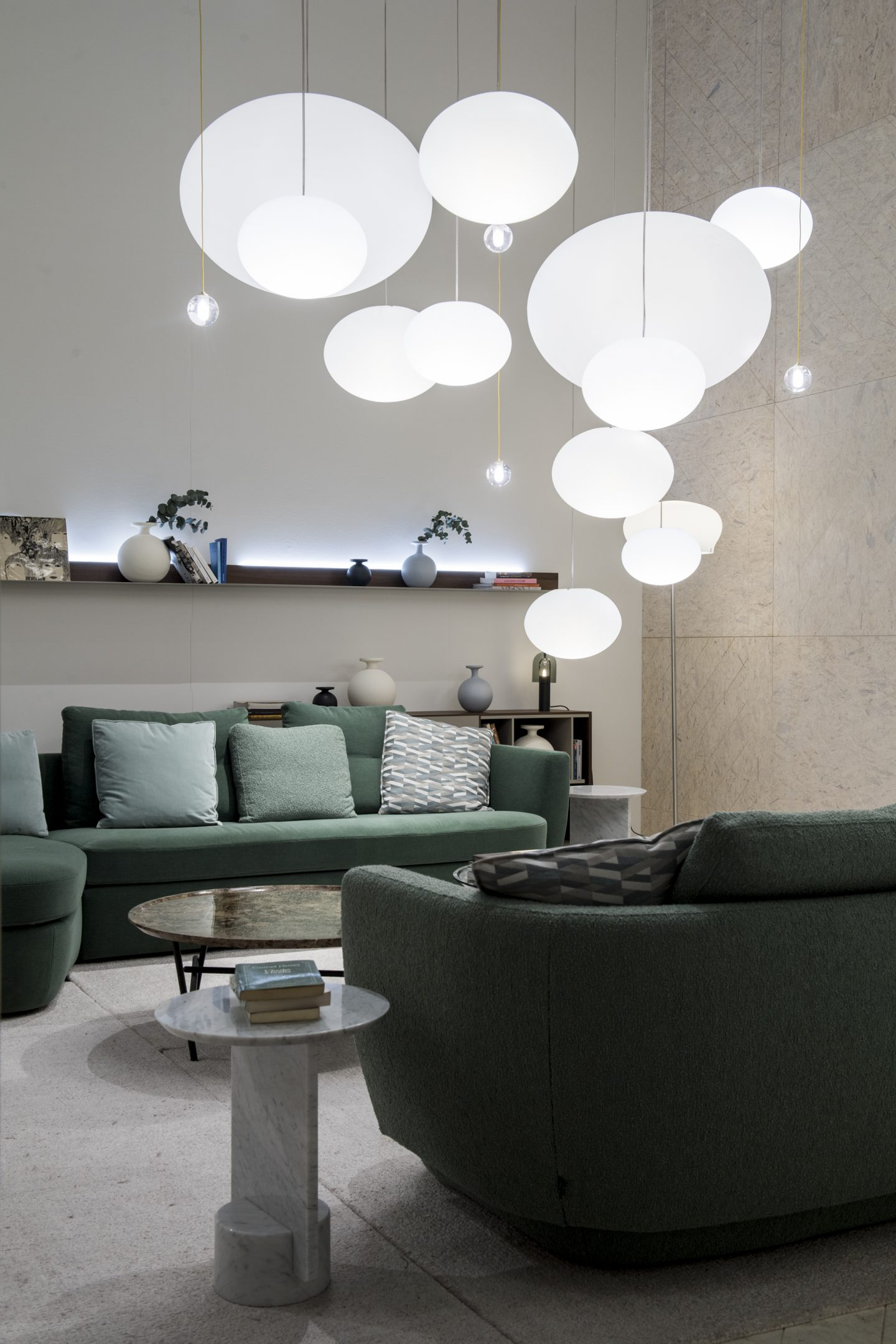 colour and form from Maison & Objet, colour trend, green marble, marble trend, Ligne Roset,  Hello Peagreen