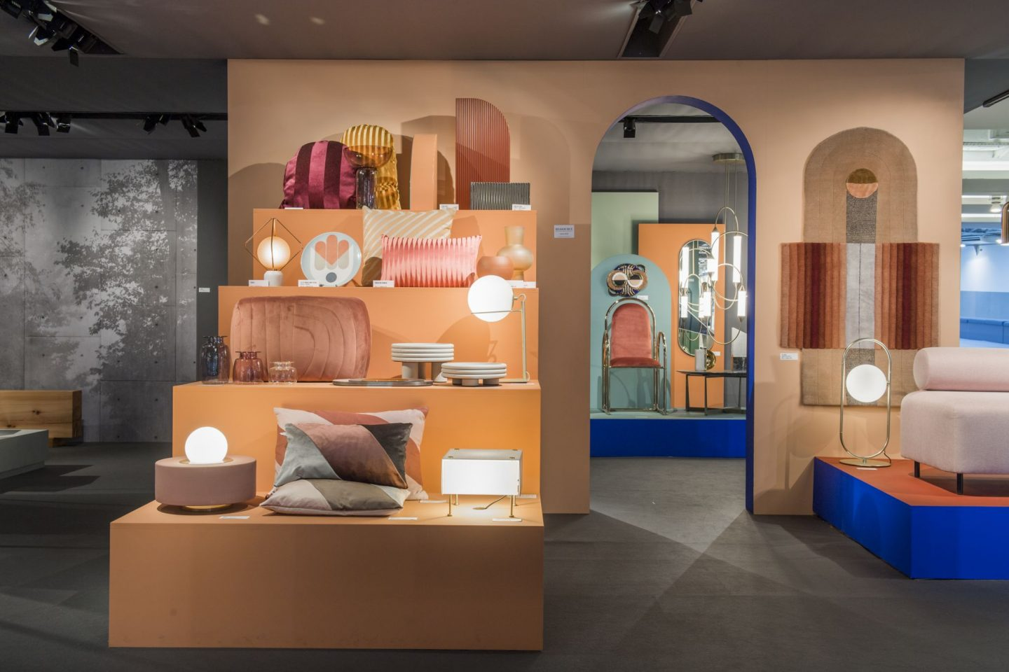 colour and form from Maison & Objet, colour trend, warm palette, peach,  Hello Peagreen