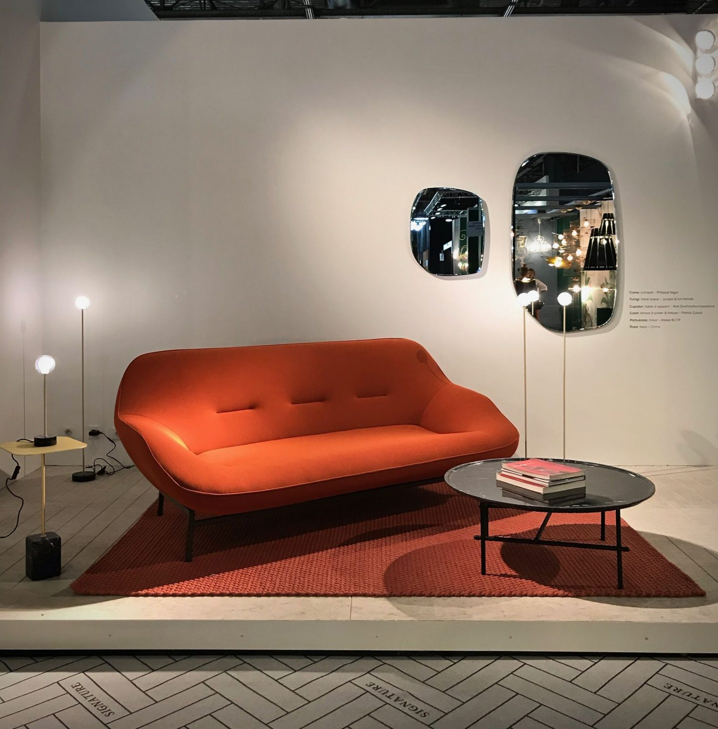 colour and form from Maison & Objet, colour trend, warm palette, curves, Ligne Roset,  Hello Peagreen