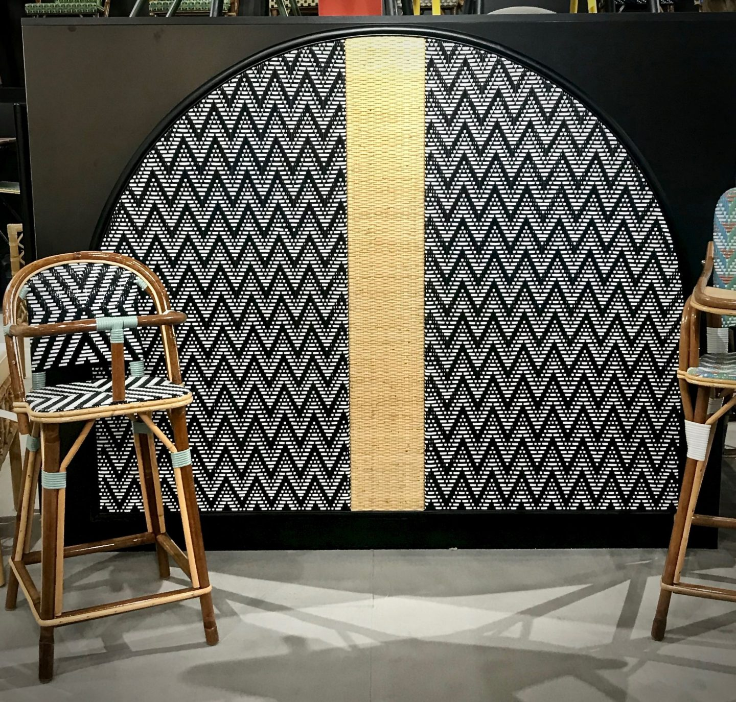 colour and form from Maison & Objet, colour trend, warm palette, rattan, natural materials,  shape trend, arches, Hello Peagreen