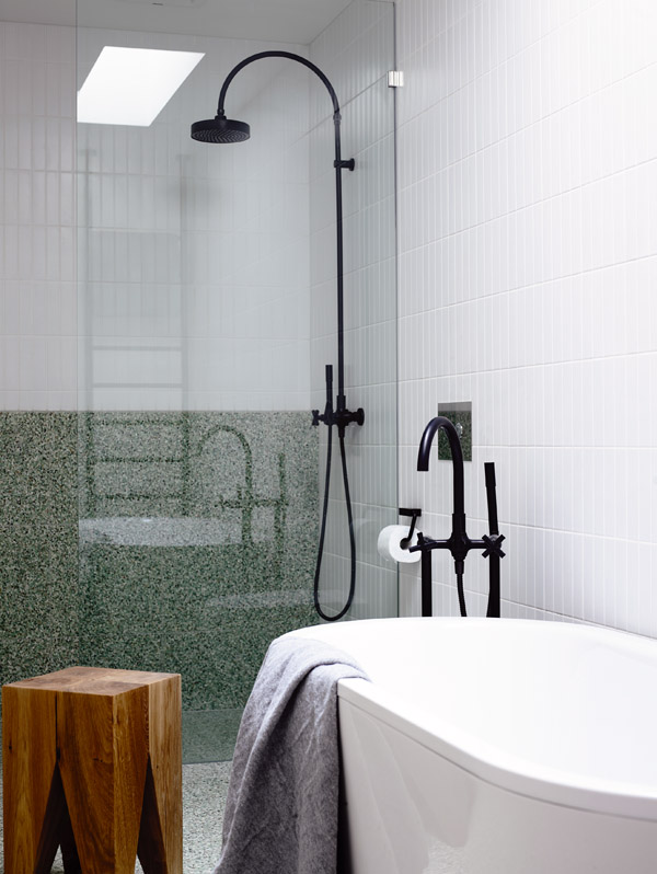 green bathroom, design by Hecker Gutherie