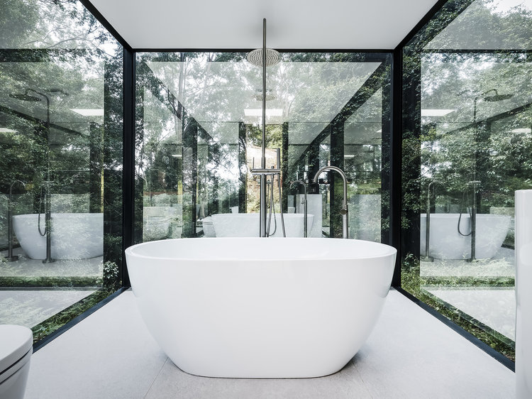 gorgeous green bathrooms, Madeleine Blanchfield Architects