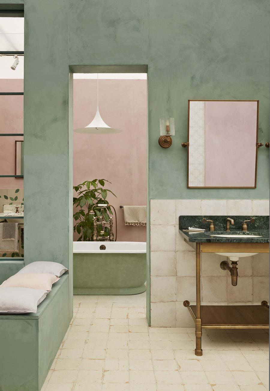 gorgeous green bathrooms, Drummonds UK