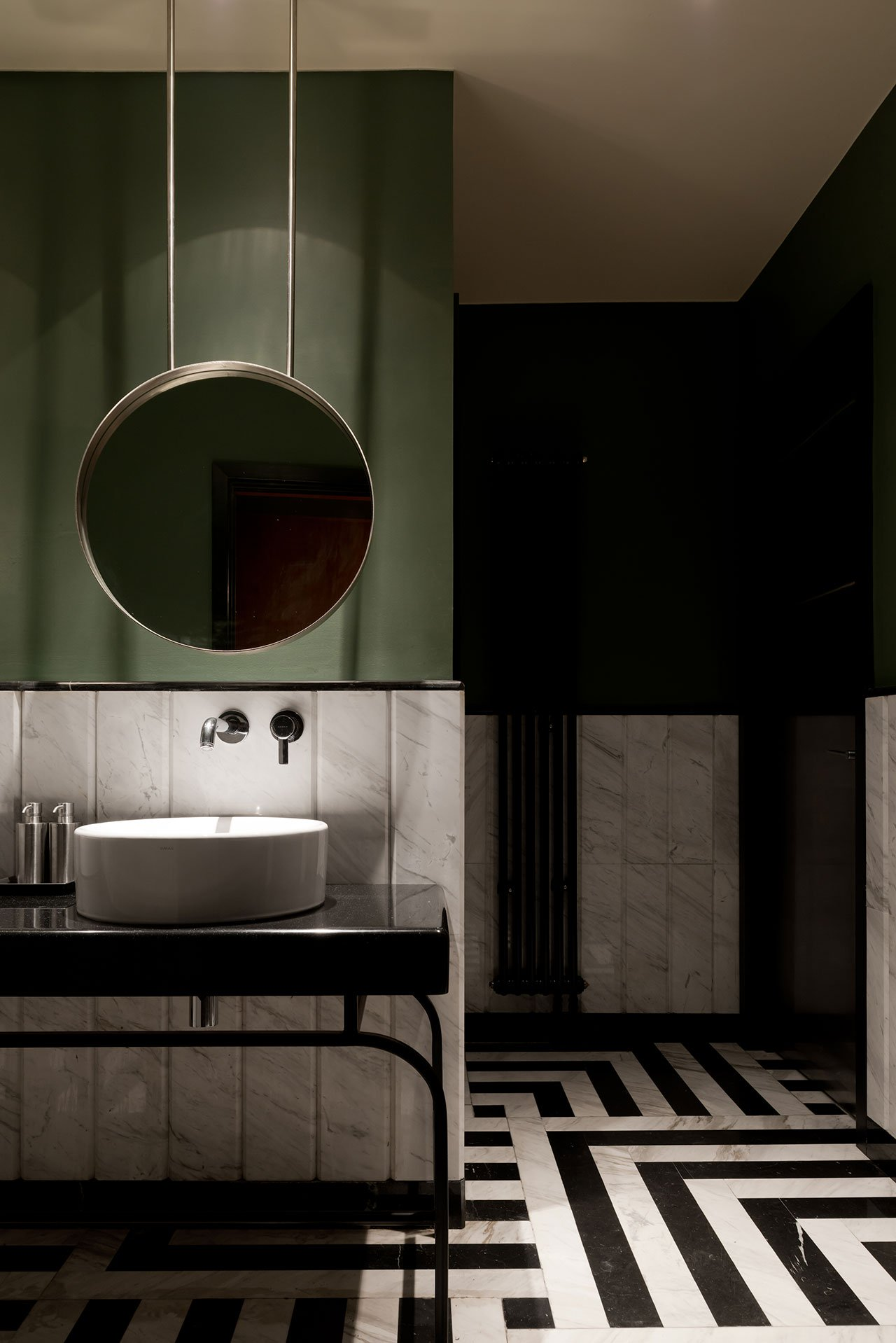 gorgeous green bathrooms, design by studio Form