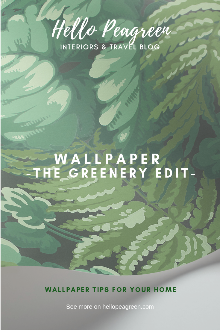 Green Wallpaper, the greenery edit, leafy wallpaper, jungle wallpaper, foliage wallpaper