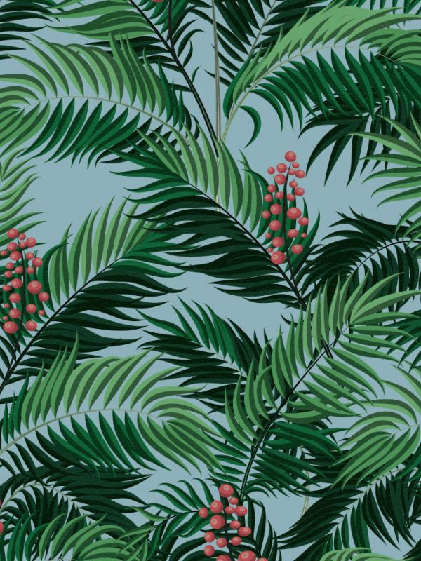 Green Wallpaper, the greenery edit, leafy wallpaper, jungle wallpaper, foliage wallpaper, Stuart Rodgers Wallpaper