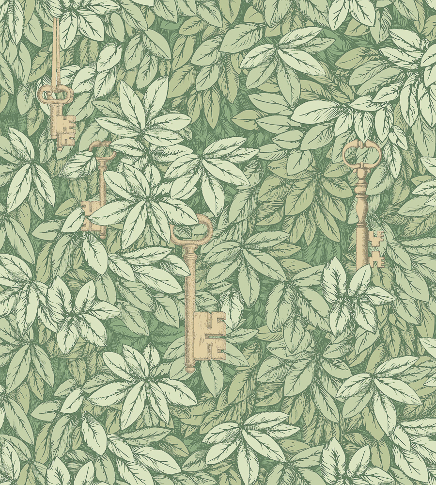 Green Wallpaper, the greenery edit, leafy wallpaper, jungle wallpaper, foliage wallpaper, Cole & Son, Fornasetti wallpaper