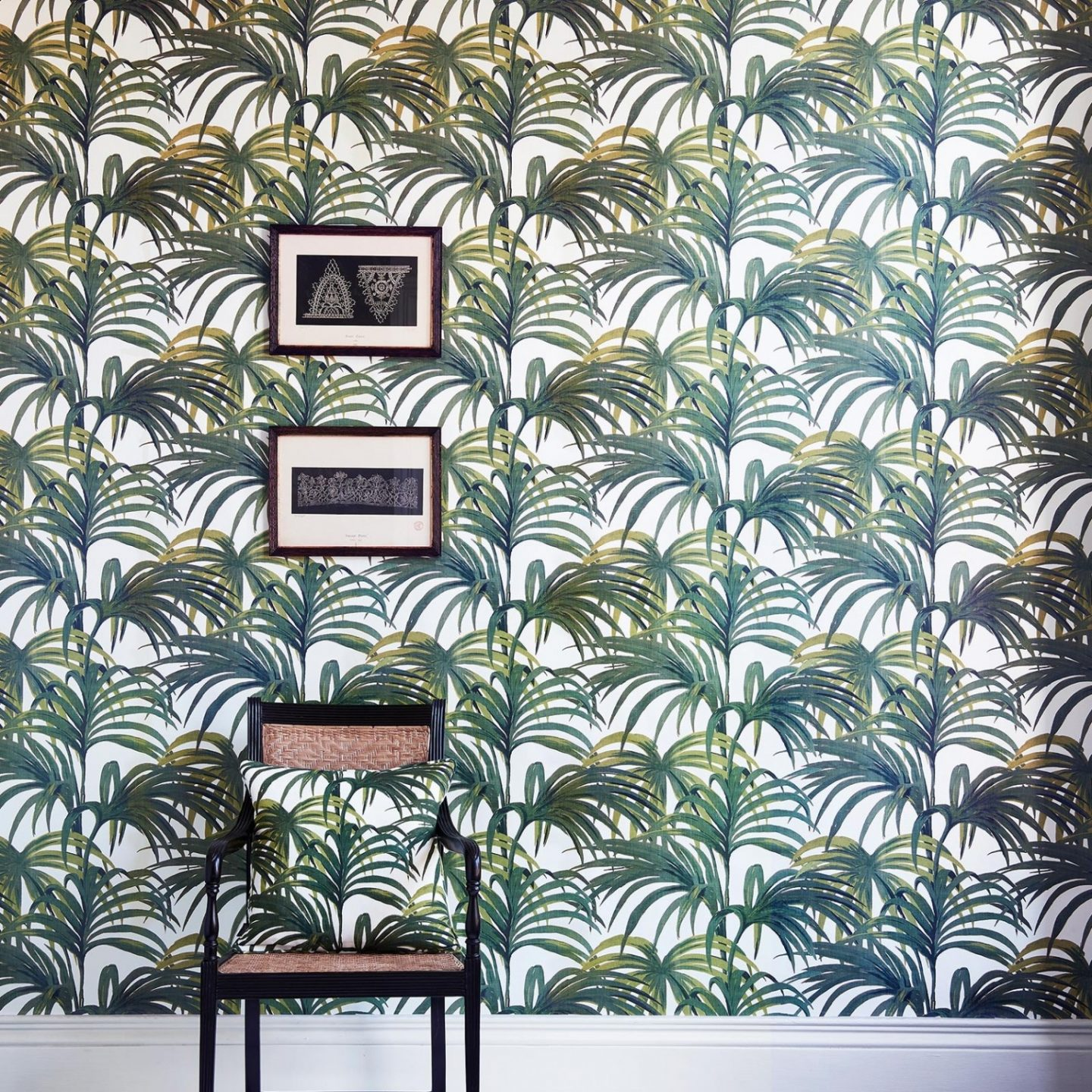 Green Wallpaper, the greenery edit, leafy wallpaper, jungle wallpaper, foliage wallpaper, Palmeral wallpaper, House of Hackney