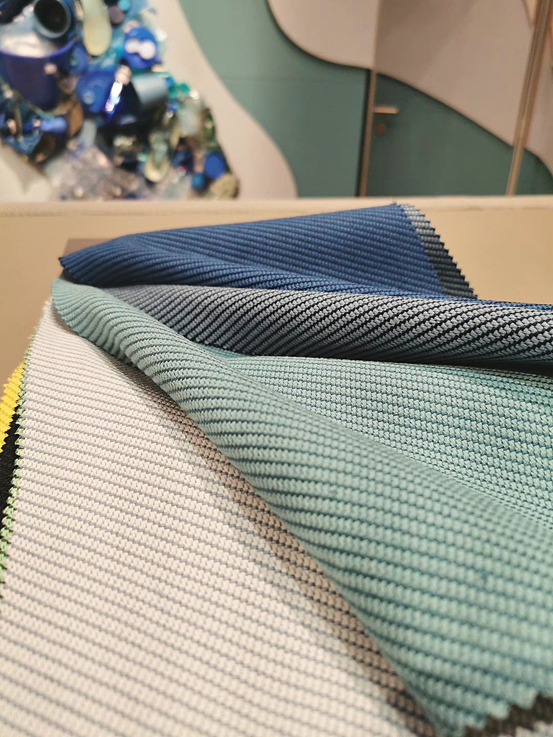 Camira is turning sea waste into fabric for the good of the planet, Stockholm Design Week, sustainable design, eco fabric, sea colours